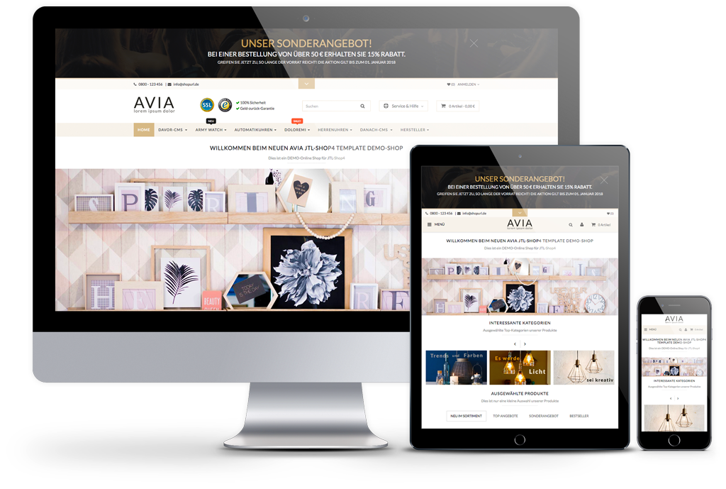AVIA - PREMIUM JTL-Shop Template