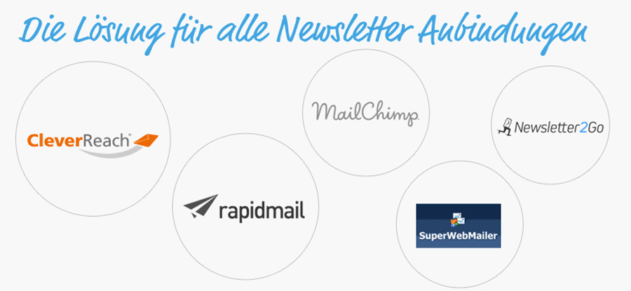 Erstelle Newsletter und versende Sie über dienen Anbieter