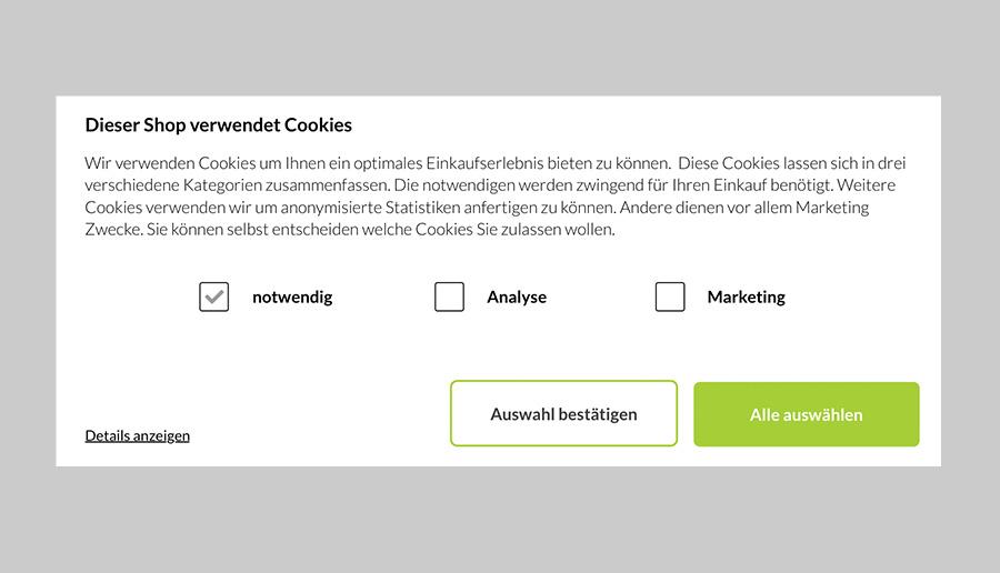 Lässt den Besucher über Cookies entscheiden