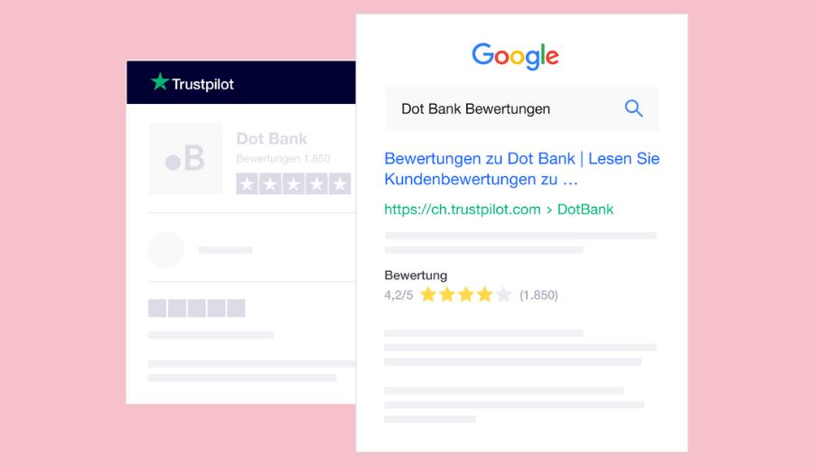 Nutze die Bewertungen für dein Google Ranking