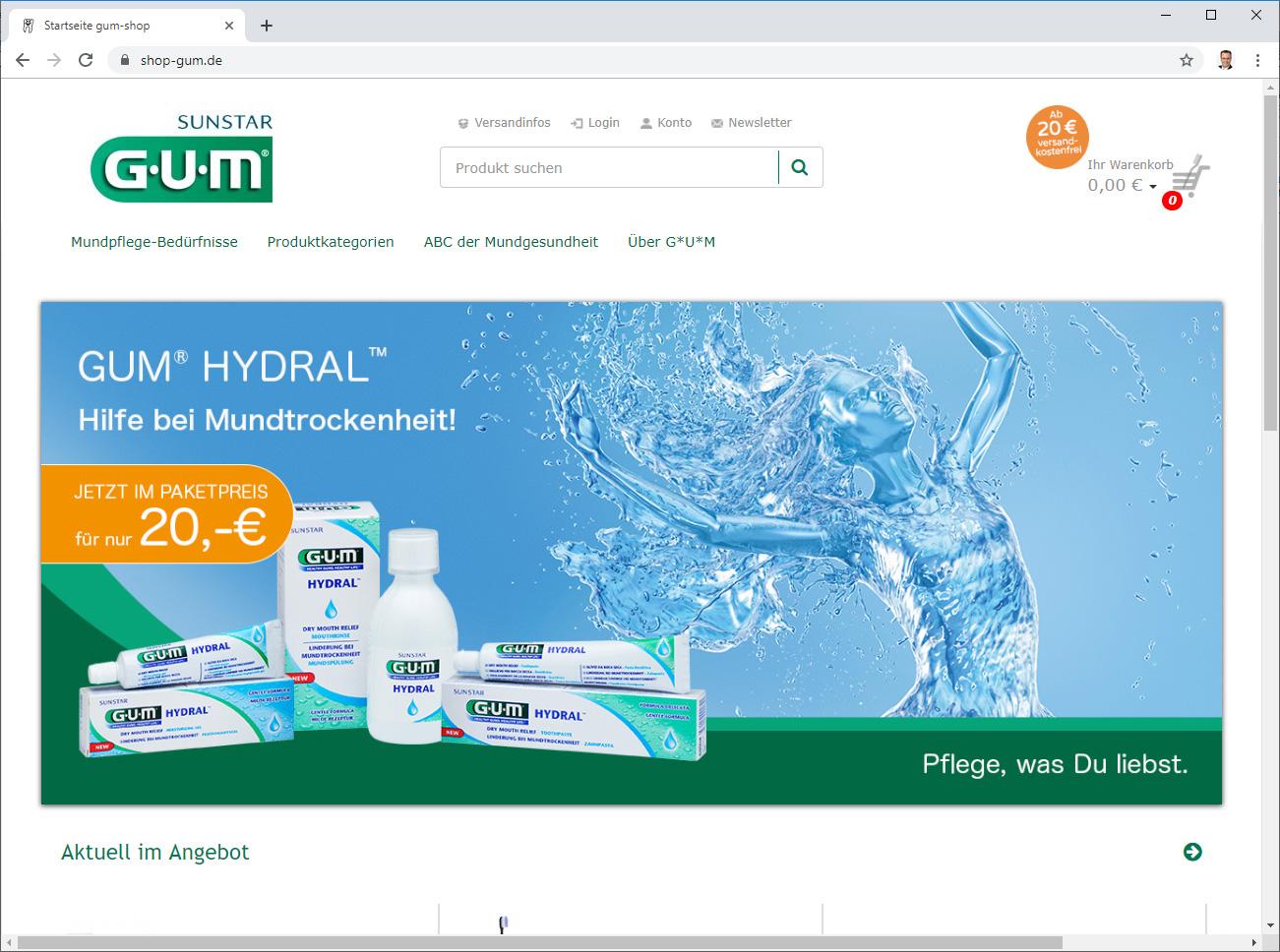 Sunstar Gum Shop - Onlineshop für Dentalprodukte