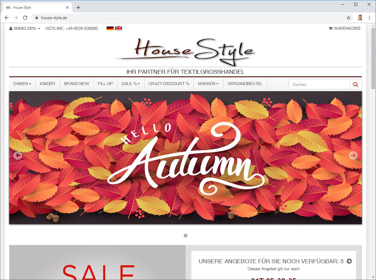 House Style - Textil-Grosshandel