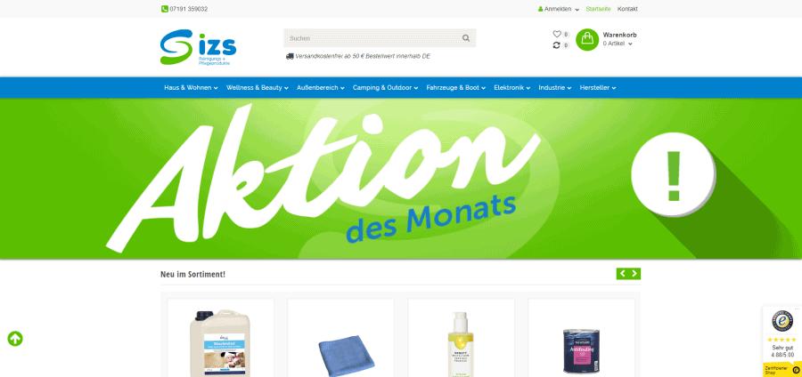 IZS-Shop: Reinigungsmittel günstig online kaufen